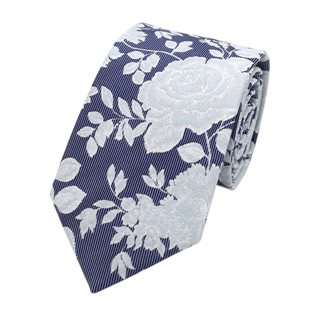 LLoyd Aintree Smith Blue Large Floral Pattern Tie