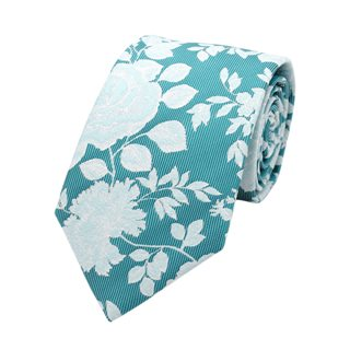 LLoyd Aintree Smith Green Large Floral Pattern Tie