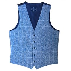 LLoyd Aintree Smith Blue Modern Fit Waistcoat
