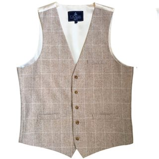 LLoyd Aintree Smith Stone Modern Fit Waistcoat
