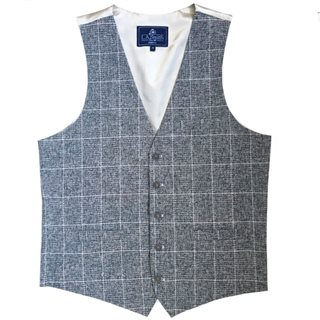 LLoyd Aintree Smith Grey Modern Fit Waistcoat