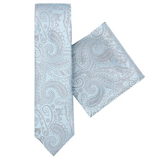 LLoyd Aintree Smith Blue Paisley Tie & Hankie Set