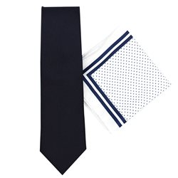 LLoyd Aintree Smith Navy Classic Tie & Hankie Set