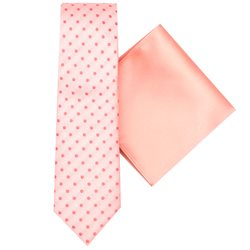 LLoyd Aintree Smith Peach Spot Tie & Hankie Set