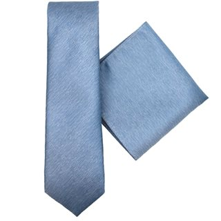 LLoyd Aintree Smith Blue Plain Tie & Hankie Set