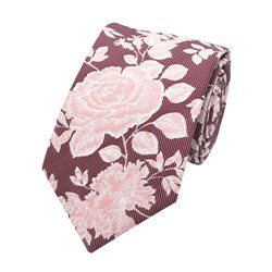 LLoyd Aintree Smith Pink Large Floral Pattern Tie