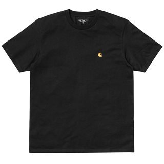 Carhartt WIP Black/Gold Chase T-Shirt