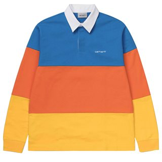 Carhartt WIP Blue Newport Rugby Polo