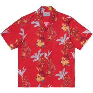 Carhartt WIP Red Hawaiian Floral Shirt