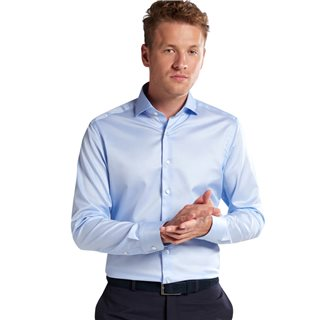 Eterna Blue Slim Fit Dress Shirt