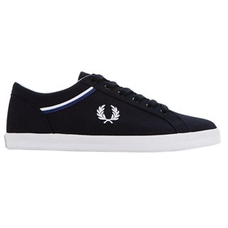 Fred Perry Navy Baseline Canvas Trainer