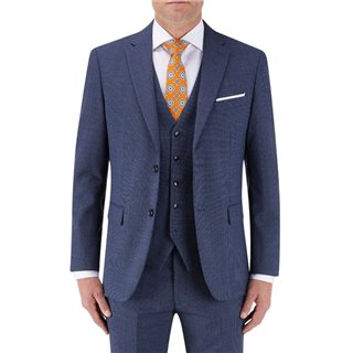 Skopes Navy Pietro Check Suit Jacket