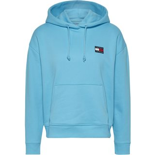 Tommy Hilfiger Ladies Fresh Aqua Tommy Badge Pure Cotton Hoody