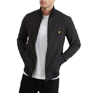 Lyle & Scott Black Softshell Zip Through Jacket