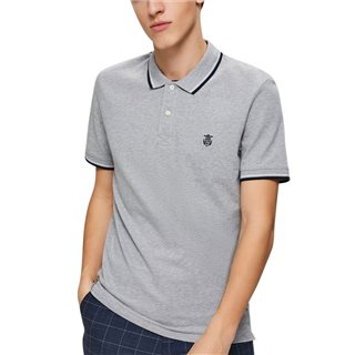 Selected Homme Med Grey Regular Fit Polo