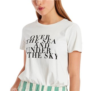 ICHI Over the Sea & Under the Sky Slogan T-Shirt