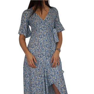 Kate & Pippa Blue Pippa Wrap Midi Dress
