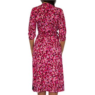 Kate & Pippa Pink Sienna Wrap Midi Dress