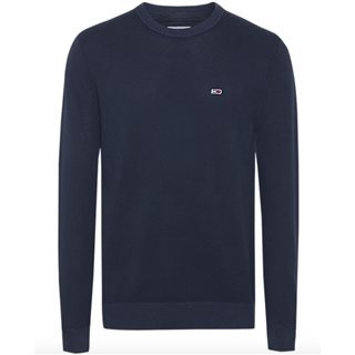 Tommy Jeans Navy Pure Cotton Lightweight Sweater