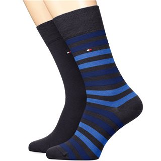 Tommy Accessories Dark Navy Duo Stripe 2-Pack Socks