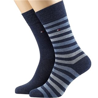 Tommy Accessories Jeans Duo Stripe 2-Pack Socks