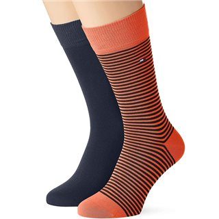 Tommy Accessories Coral Small Stripe 2-Pack Socks