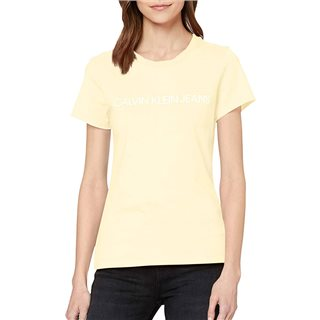 Calvin Klein Mimosa Yellow Slim Organic Cotton T-Shirt