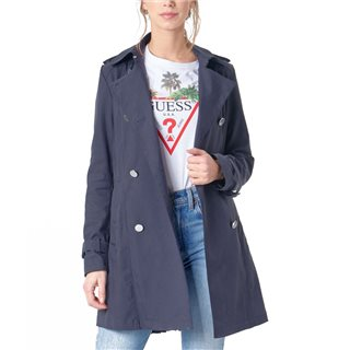 Guess Navy Cecilia Trench Coat
