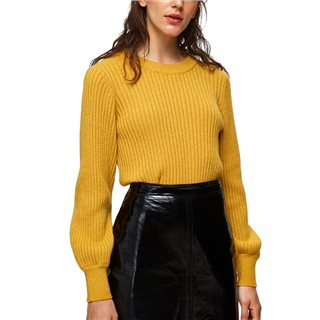 Selected Femme Lemon Curry Rianna Ribbed Jumper
