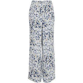 ICHI Blue/White Cannap Pattern Trousers