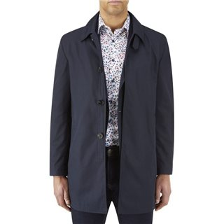 Skopes Navy Hetton Overcoat