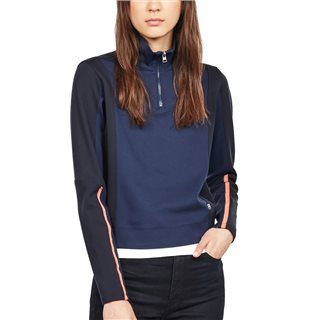 G-Star Servant Blue Nostelle Fyx Biker Half Zip Sweater