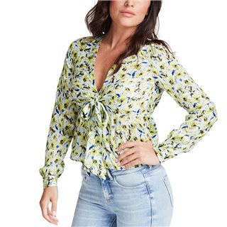 Guess Printed Flower Knotted Blouse