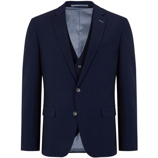 Daniel Grahame Navy Damon Tapered Fit 3-Piece Suit