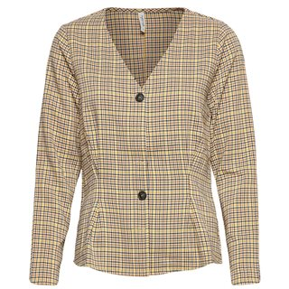 BlendShe Brown Sono Check Blouse