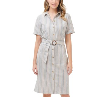 Sugarhill Brighton Cream Giana Earth Stripe Shirt Dress