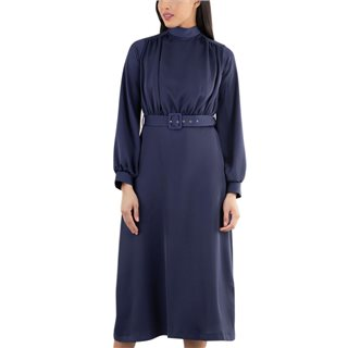 Closet London Navy High Neck Midi Dress