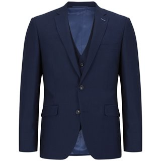 Daniel Grahame Navy Damon Bi-stretch Tapered Fit 3-Piece Suit