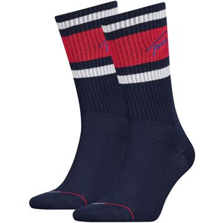 Tommy Accessories Dark Navy Lettermix 2-Pack Socks