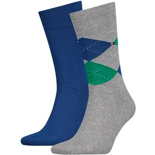Tommy Accessories Blue/Green Check 2-Pack Socks