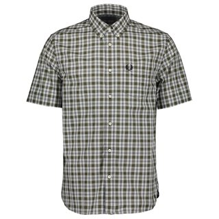 Fred Perry Military Green Small Check Shirt