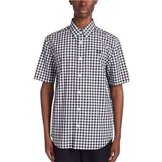 Fred Perry White Two Colour Gingham Shirt
