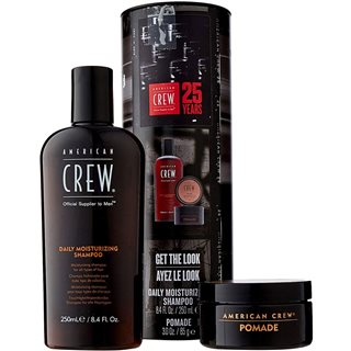 American Crew 25 Year Pomade And Shampoo Tin