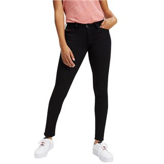 Tommy Jeans Dana Black Mid Rise Skinny Nora Jeans