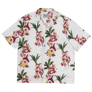 Carhartt WIP Floral Print Red Hawaiian Shirt