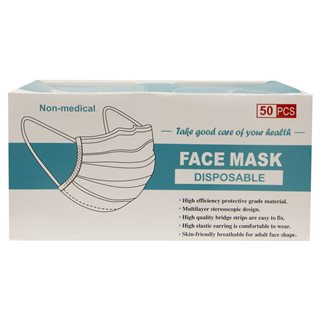 Evolve Clothing 50 Pack Non Medical Disposable Face Masks