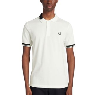 Fred Perry Snow White Abstract Collar Polo