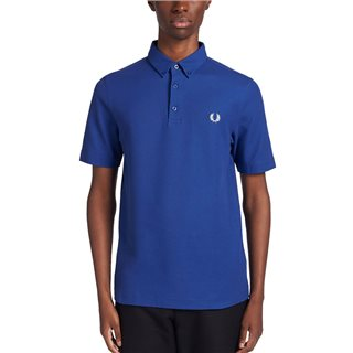 Fred Perry Cobalt Button Down Polo