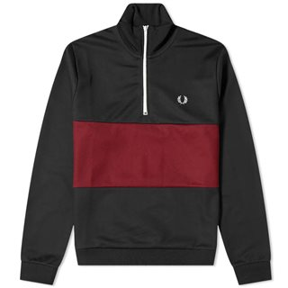 Fred Perry Navy Colour Block Half Zip Track Top
