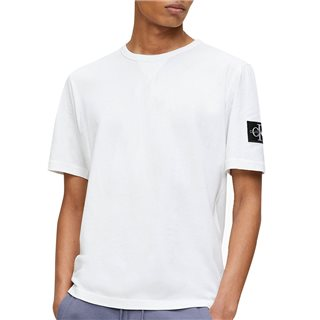 Calvin Klein White Monogram Badge T-Shirt